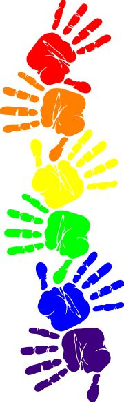 Handprint Clipart Rainbow Handprints 2 Clip At Clker Vector Clip
