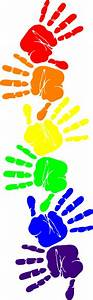 Handprint Border Clipart - Clipart Suggest