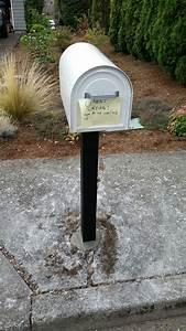 Mailbox, Replacement, In, Sidewalk