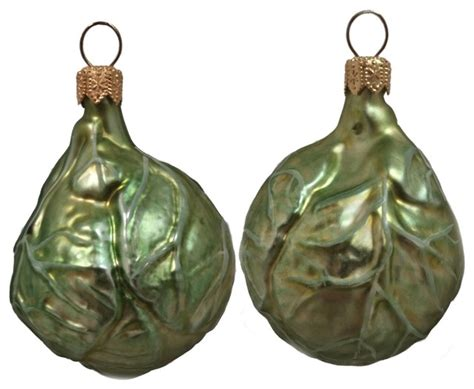 cabbage vegetable polish mouth blown glass christmas