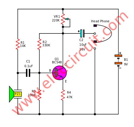 simple electronic stethoscope circuits eleccircuit