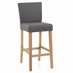 Chaise Bar Cuisine : chaise de bar bois et tissu cornell monde du tabouret ~ Teatrodelosmanantiales.com Idées de Décoration