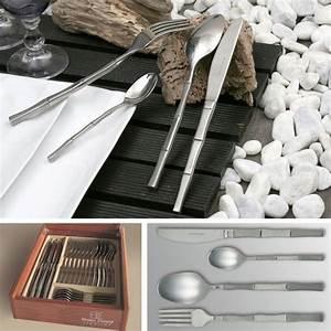 Couvert En Bambou : couverts inox bambou m nag re 24 pieces art de la table ~ Teatrodelosmanantiales.com Idées de Décoration