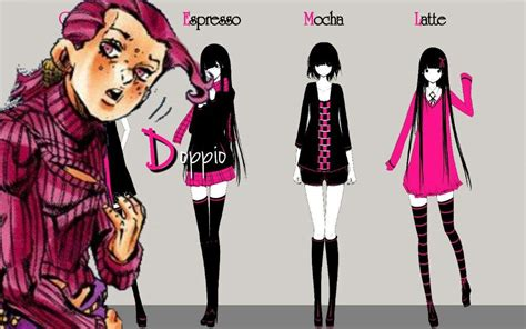 anime wallpaper black pink png jojo