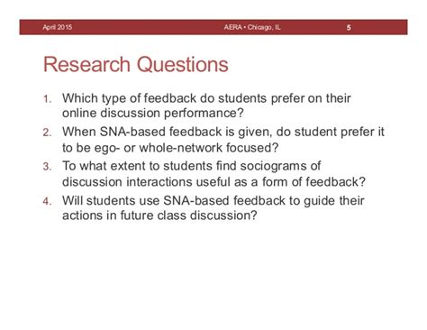 Using Sna To Provide Feedback On Course Discussion (aera