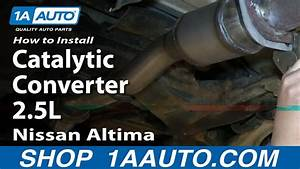 How To Install Replace Front Flex Pipe Catalytic Converter 2 5l 2002-06 Nissan Altima
