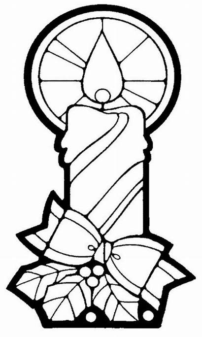 Candle Coloring Christmas Pages Printable Getcolorings