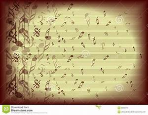 Vintage Music Notes Background Stock Vector - Image: 60252755