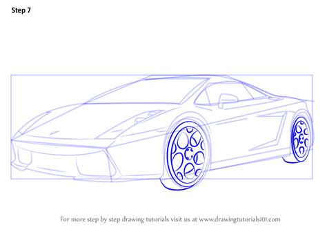 Learn How To Draw A Lamborghini Car (sports Cars) Step By