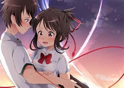 Mitsuha Taki Tachibana Anime Kimi Wa Na