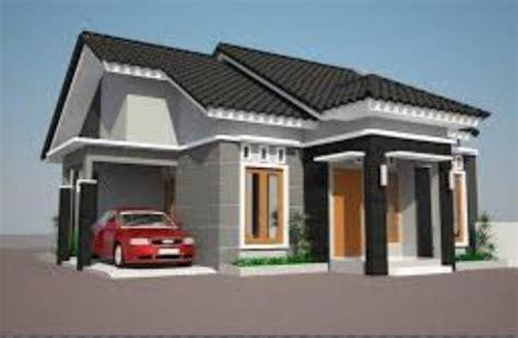 gambar rumah model persegi panjang gambar