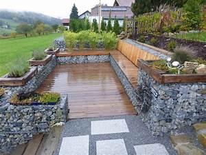 Terrasse Am Hang : terrassen sitzplaetze holz gartengestaltung gartenbau ~ Lizthompson.info Haus und Dekorationen