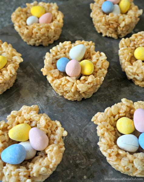 easter treats for rice krispie easter treats candy quot nests quot mom always finds out