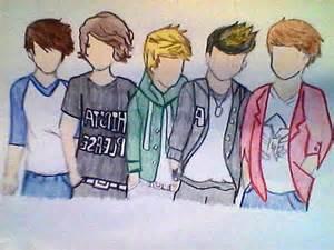 Cute One Direction Cartoon Drawings