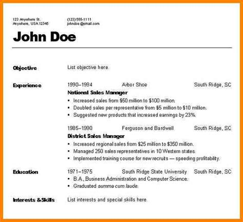 Different Resume Styles Exles by Pin All Types Of Resume Formats On