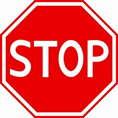 Stop Sign Signs Clipart Traffic Road Clip