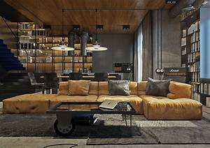 Industrial Look Wohnzimmer : industrial style living room design the essential guide ~ Michelbontemps.com Haus und Dekorationen