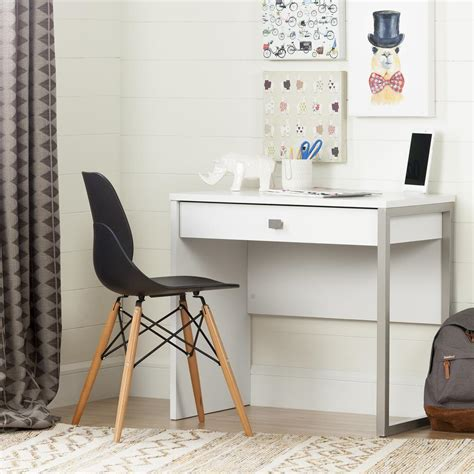 home depot student desk south shore interface pure white student desk 10535 the