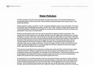 Example Of English Essay Essay About Water Pollution In Tamil  Dissertation Chapter  Example Of An Essay Paper also High School Application Essay Sample Essay About Water Pollution Language Analysis Essays Quotes About  Thesis Statements For Essays
