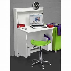 Meuble Avec Table Rabattable : bureau escamotable ~ Teatrodelosmanantiales.com Idées de Décoration