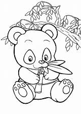 Coloring Pandas Pages Panda Children Funny Printable Toddlers Animals Justcolor sketch template