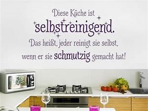 Wandtattoo Küche Bilder : wandtattoo diese k che ist selbstreinigend wandtattoo de ~ Markanthonyermac.com Haus und Dekorationen