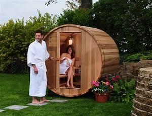 barrelsauna redcedar kanadafass kanadafass With whirlpool garten mit sauna für den balkon