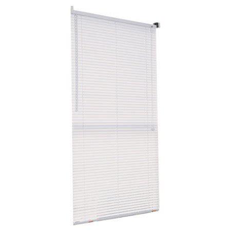 walmart mini blinds vinyl white vinyl 1 quot indoor mini blind 52 quot x 64 quot walmart