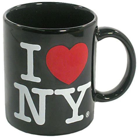 love  york mug  black