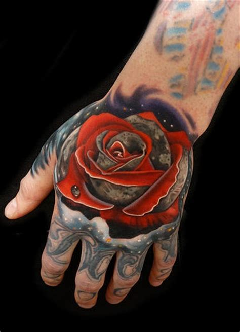 space rose moon tattoo  andres acosta  tattoo