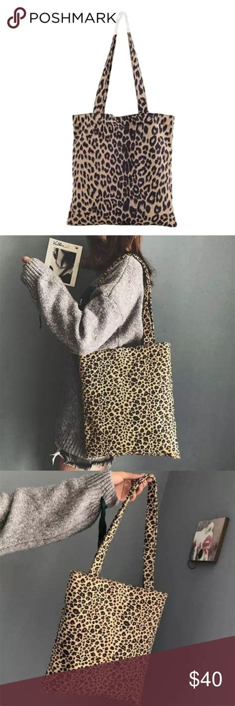 leopard print tote bags leopard print tote printed