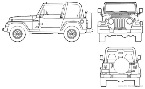 4 door jeep drawing jeep