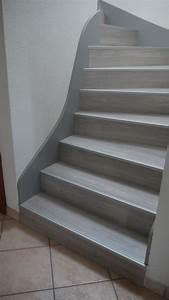 escalier peint en gris fonce palzoncom With peindre escalier bois en gris
