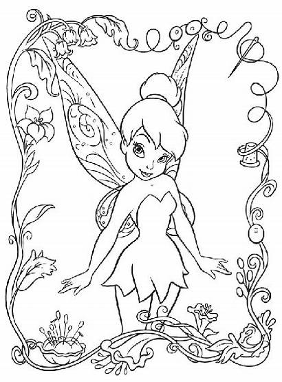 Tinkerbell Fairies Disney Coloring Pages Crayola