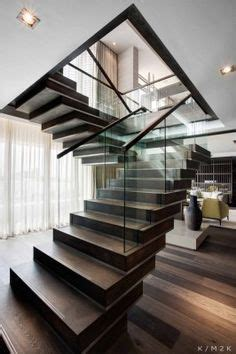 dog legged staircase  interior architecture design