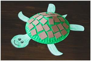 Paper Plate Turtle Craft For Kids    Free Printable