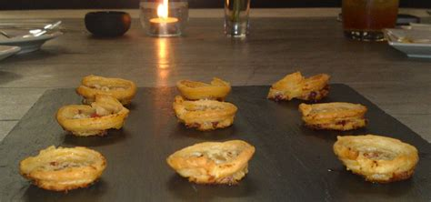 filo pastry cases canapes cooking in small spaces of brasseries and brassieres