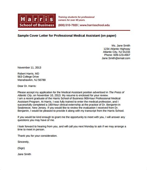 write medical assistant cover letter