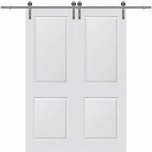 mmi door 60 in x 96 in cambridge molded solid core With 60 barn door hardware