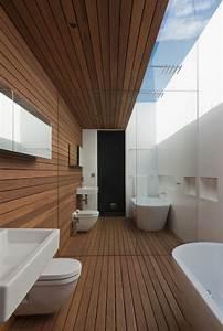 Sol Bois Salle De Bain : 1001 mod les inspirants d 39 une salle de bain avec parquet ~ Premium-room.com Idées de Décoration