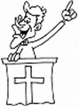 Coloring Preacher Printable Cdkenterprises sketch template