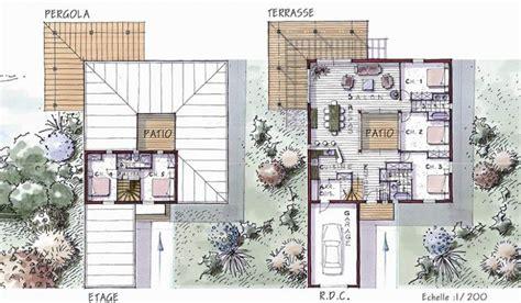plan de maison avec patio central plan maison avec patio intrieur visuel de la maison autour du0027un patio moderne plan