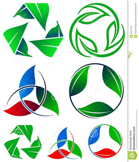 recycling logos recycle logo set royalty free stock image image 26077766