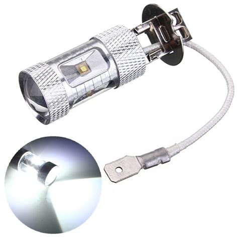 h3 30w cree led car light l bulb fog turn drl