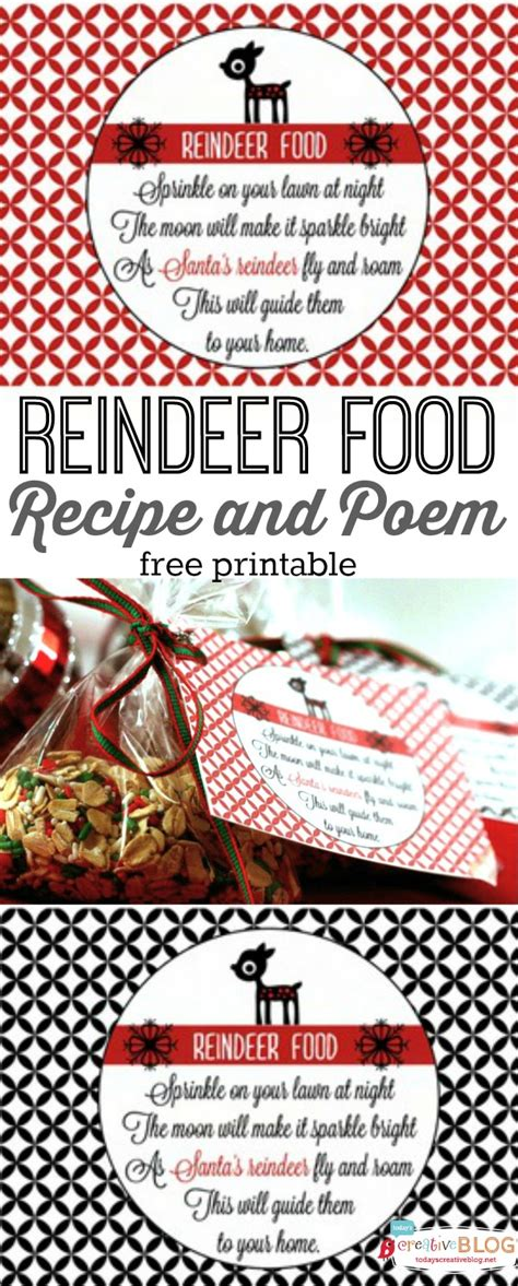 reindeer food recipe   printable todays