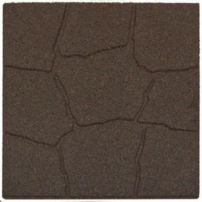 rubber for patio paver tiles envirotile 18 in x 18 in flagstone earth rubber paver