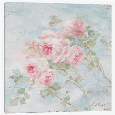 shabby chic canvas prints french farmhouse romantic shabby chic quot harmony quot roses canvas prints debi coules romantic art