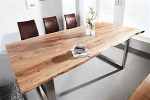 Tischplatte Baumscheibe Massivholzplatte : esstisch solid 160cm akazienholz massiv dunord online ~ Eleganceandgraceweddings.com Haus und Dekorationen
