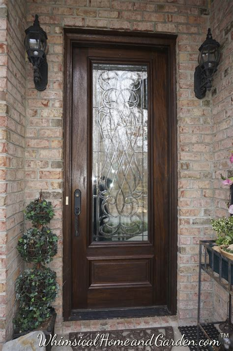 entry door with window leaded beveled glass front entry door