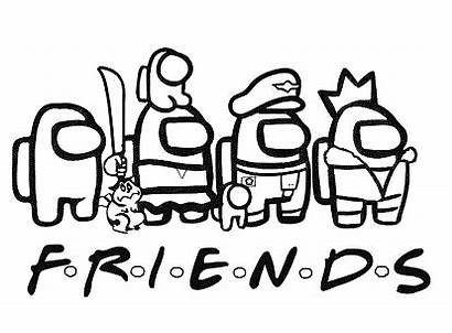 Among Coloring Printable Friends